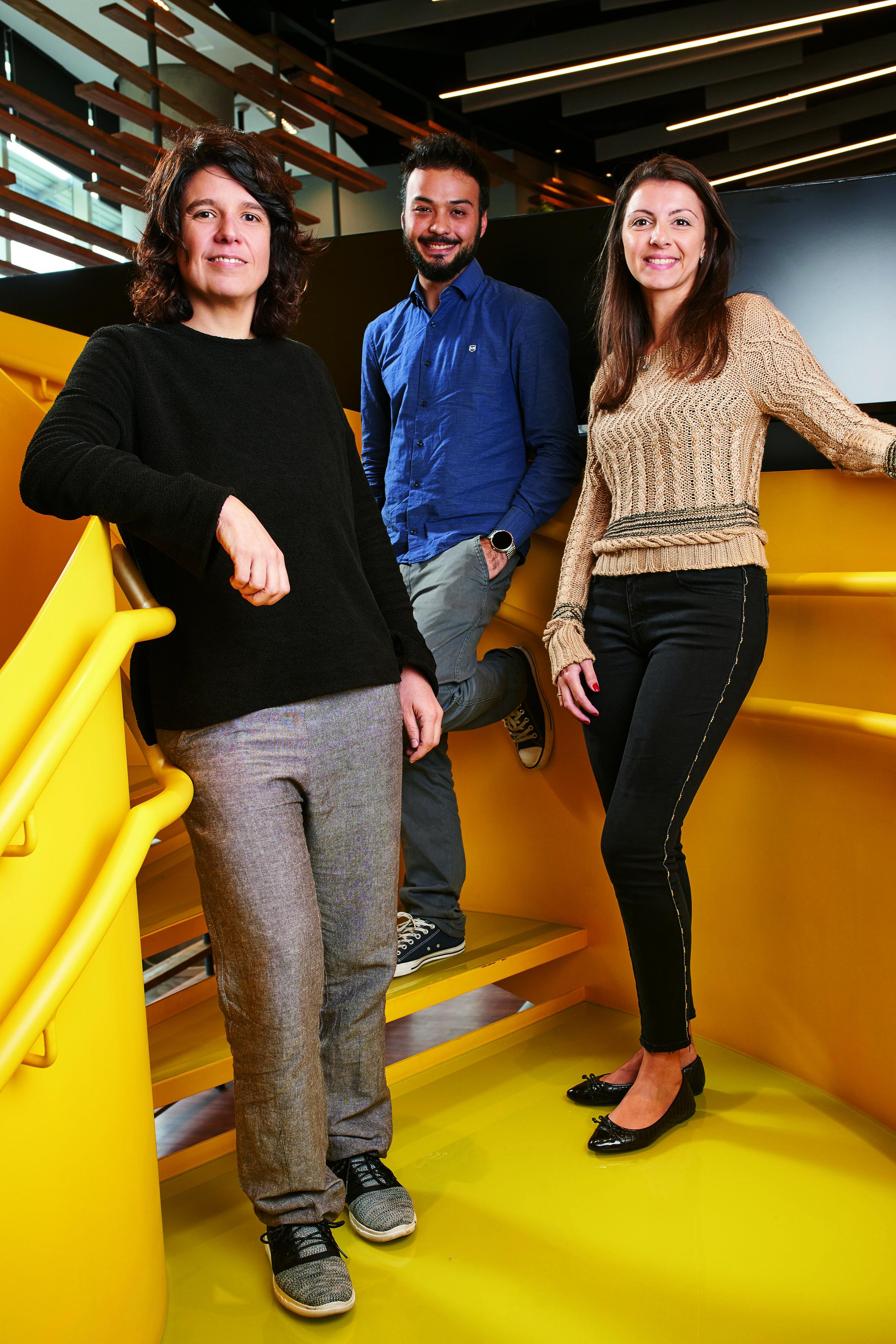 Tato Bono, Victor Odo e Renata Ruas juntos.