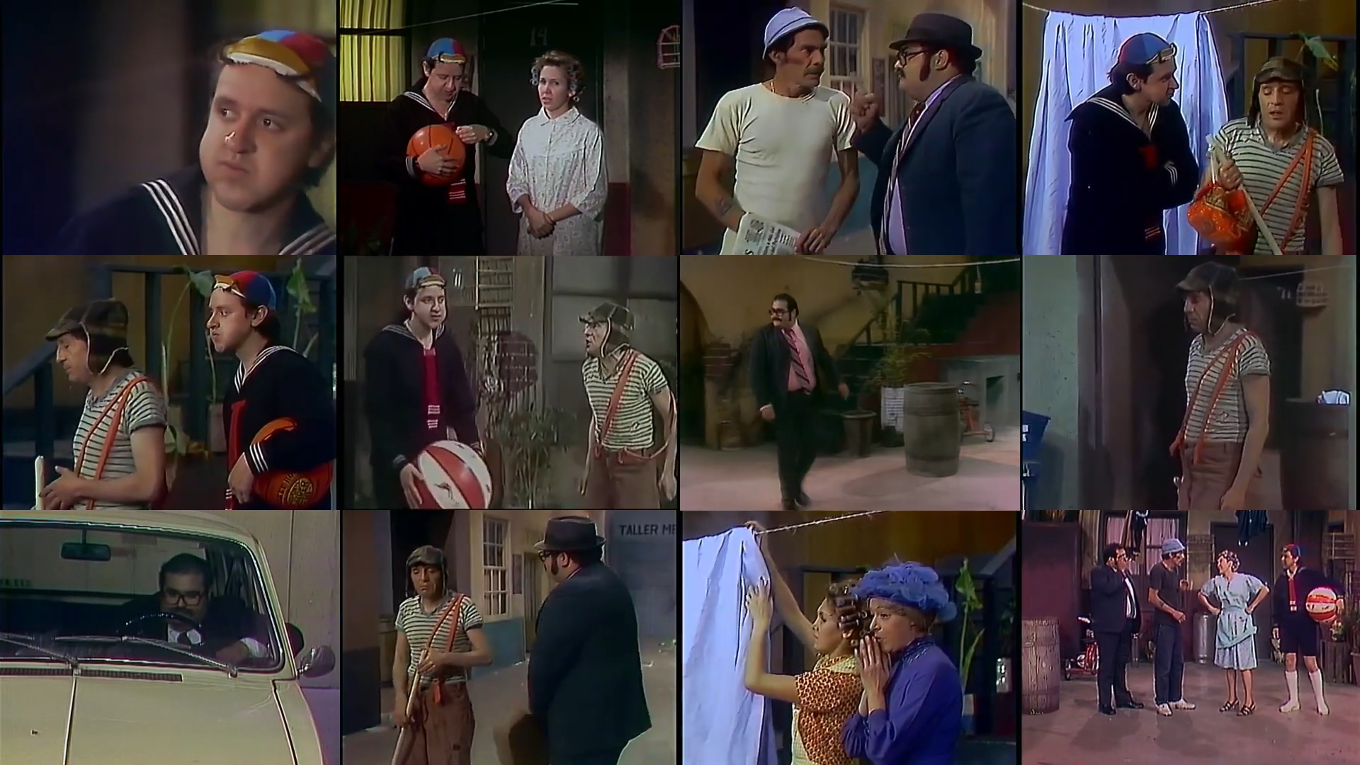 Montagem com doze cenas do episódio novo de Chaves sem Chaves